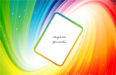 Space rainbow colors with banner. Vector