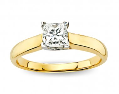 Ring With Diamond. Vector
