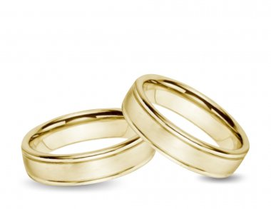 Wedding gold Rings. Vector