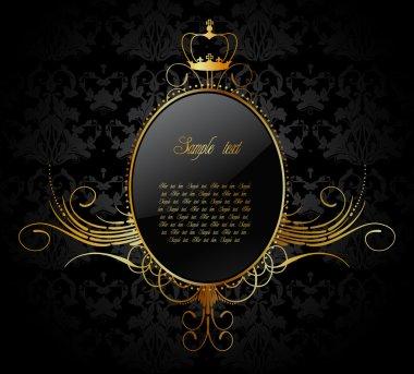 Royal vector background with golden frame