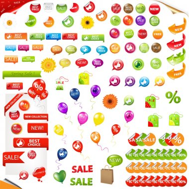Big Collection Of Sale Elements
