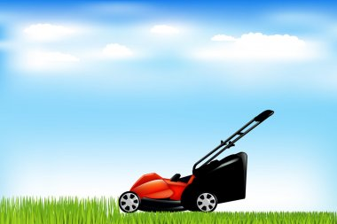 Lawnmower With Grass