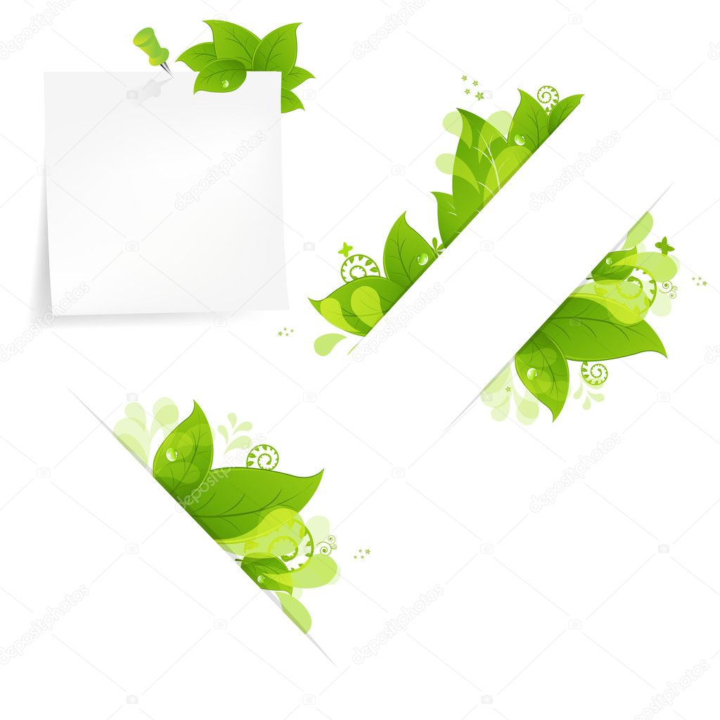 Natural Background With Leaves And Drops