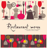 Vektor. Restaurace menu design