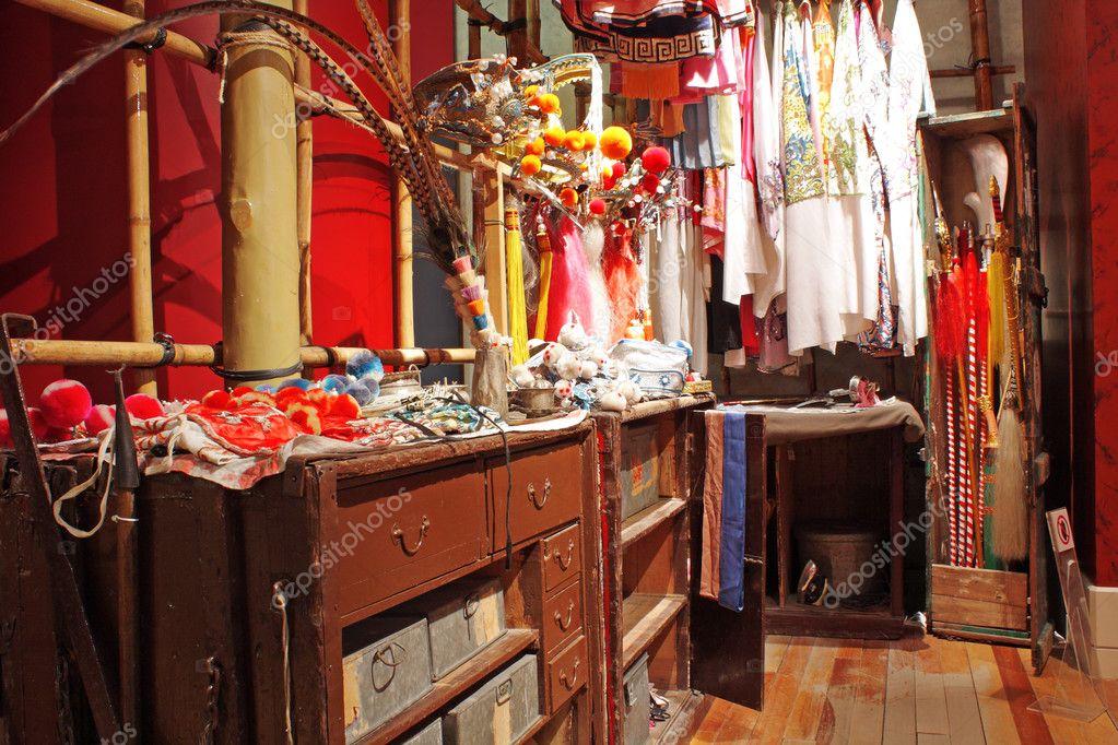 Chinese opera dressing room