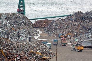Scrap yard recycling