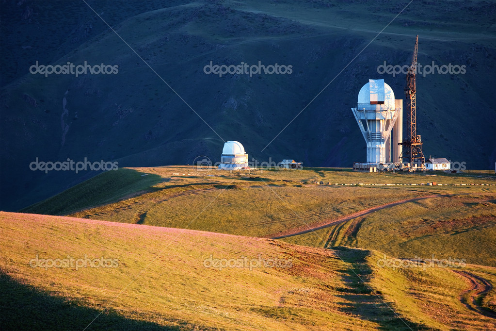 Observatory in mountains