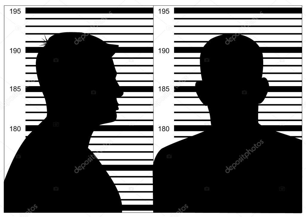 Celebrity mugshots black and white photography