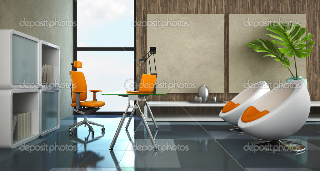 modern interior office stock. Modern Interior Of The Private Office \u2014 Stock Photo M