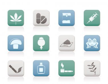 Different kind of drug icons