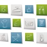 waschmaschine und w sche symbole stockvektor 45064019. Black Bedroom Furniture Sets. Home Design Ideas