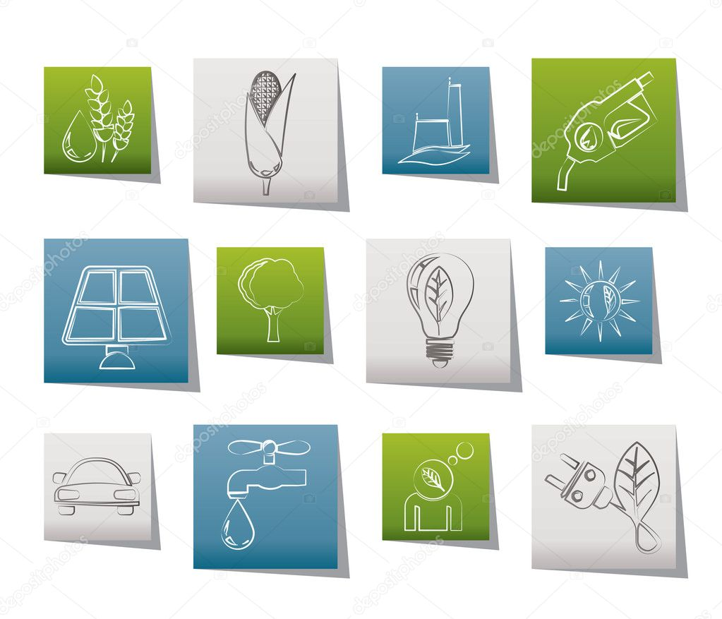 Ecology, environment and nature icons