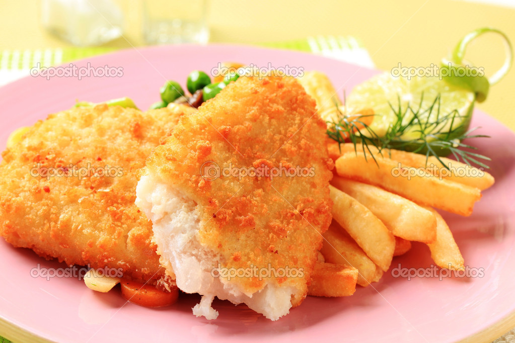 Fried fish and French fries