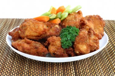 Chicken Wings and Vegetables