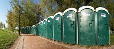 Public toilets in the park, Moscow, Russia