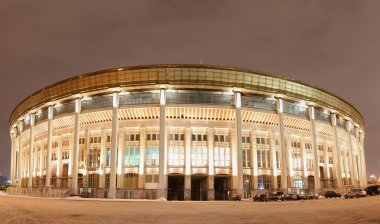 Night panorama of the Grand Sports Arena Luzhniki Olympic Complex