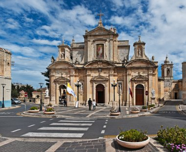 Facade of the St. Paul's church, Rabat, Malta