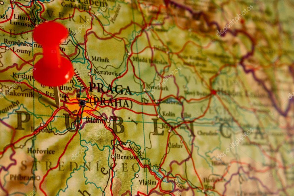 Prag Karte Europa.Karte Von Prag Tschechien Stockfoto Toniflap 5999209