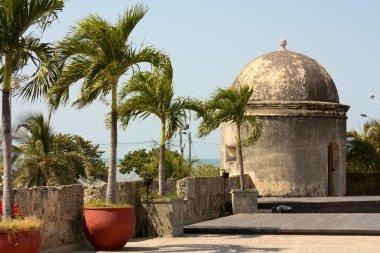 Colonial Wall of Cartagena de Indias. Colombia