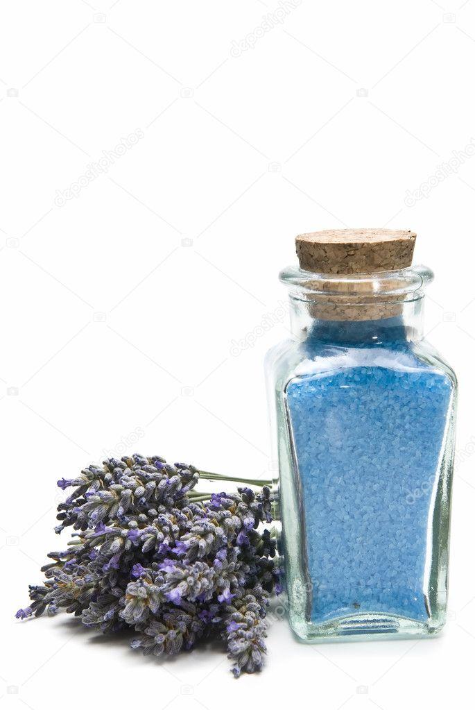 Bath salts with lavender.