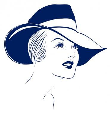 Hat young women portrait