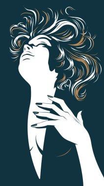 Glamour pretty women silhouette