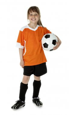 Cute Young Soccer Player