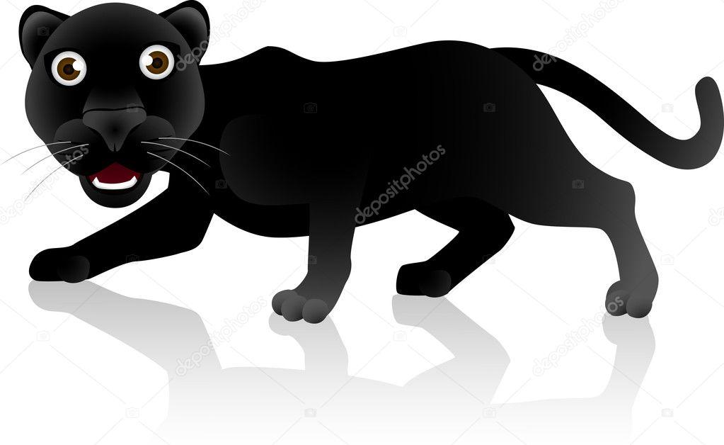 desenho animado do pantera negra vetores de stock dagadu 5549144