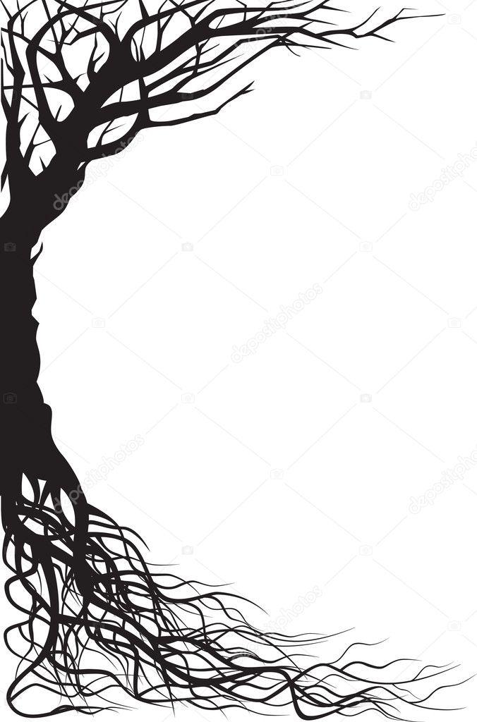 Tree silhouette illustration