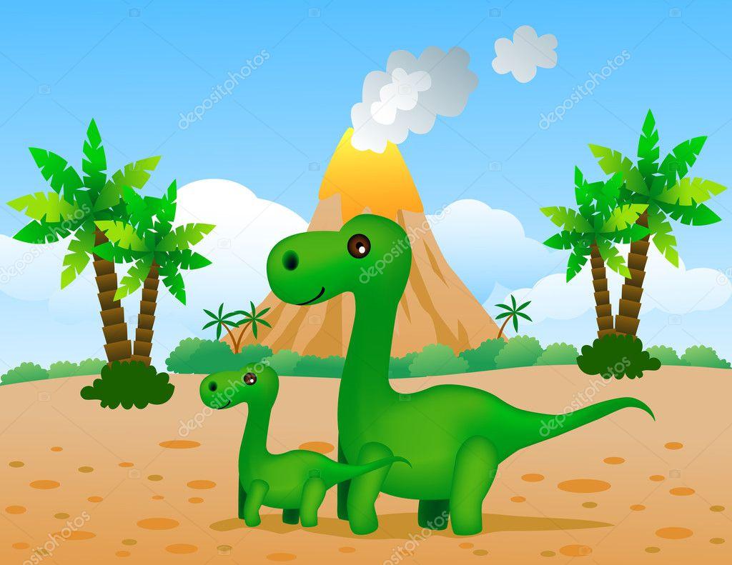 Cartone animato dinosauro — vettoriali stock dagadu
