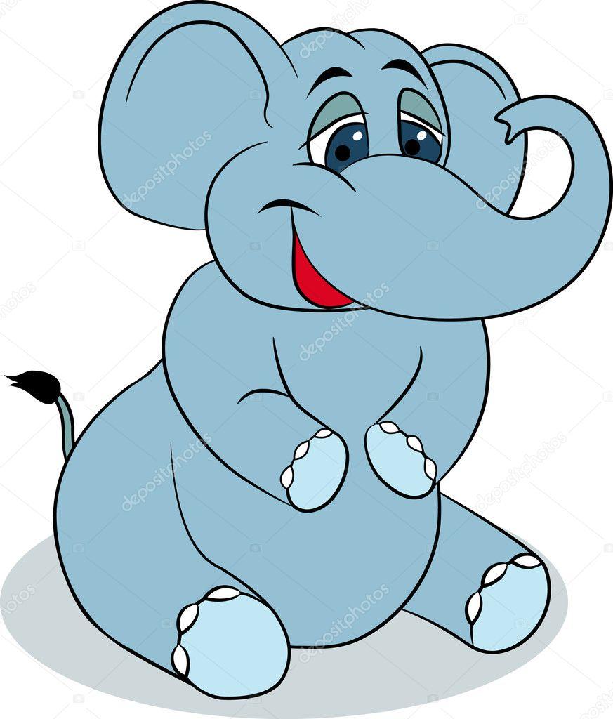 elephant cartoon u2014 stock vector dagadu 5590737