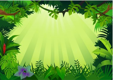 "Картина, постер, плакат, фотообои ""лесной фон"", артикул 5711596"