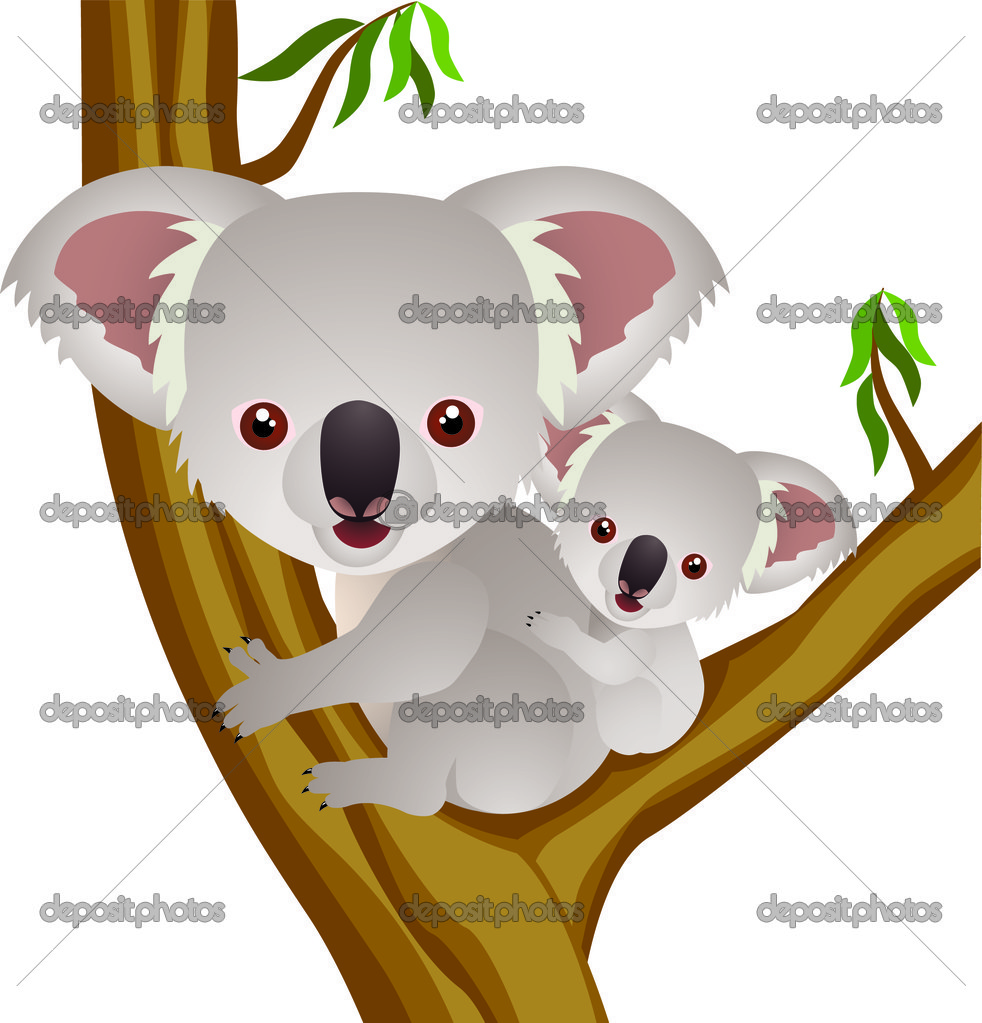 koala cartoon u2014 stock vector dagadu 5711618