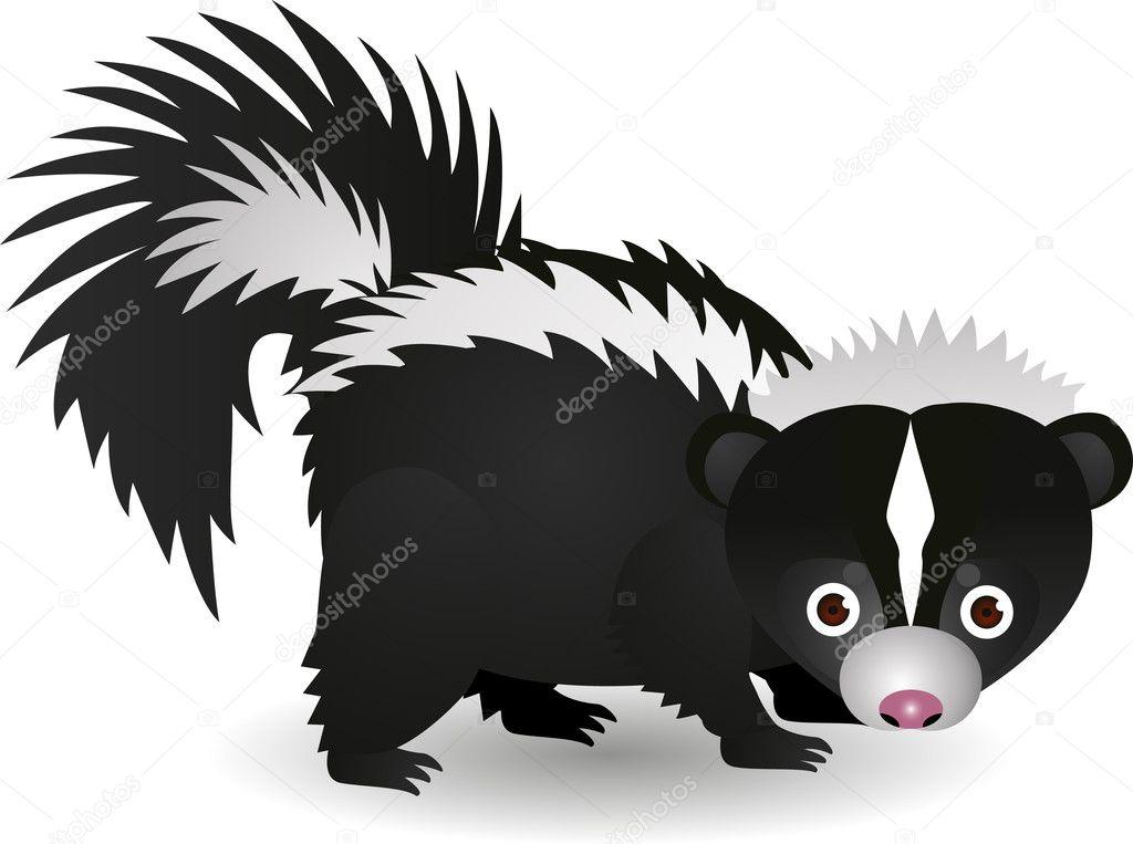 红斗牛犬价格、_臭鼬卡通 — 图库矢量图像© dagadu #5732658