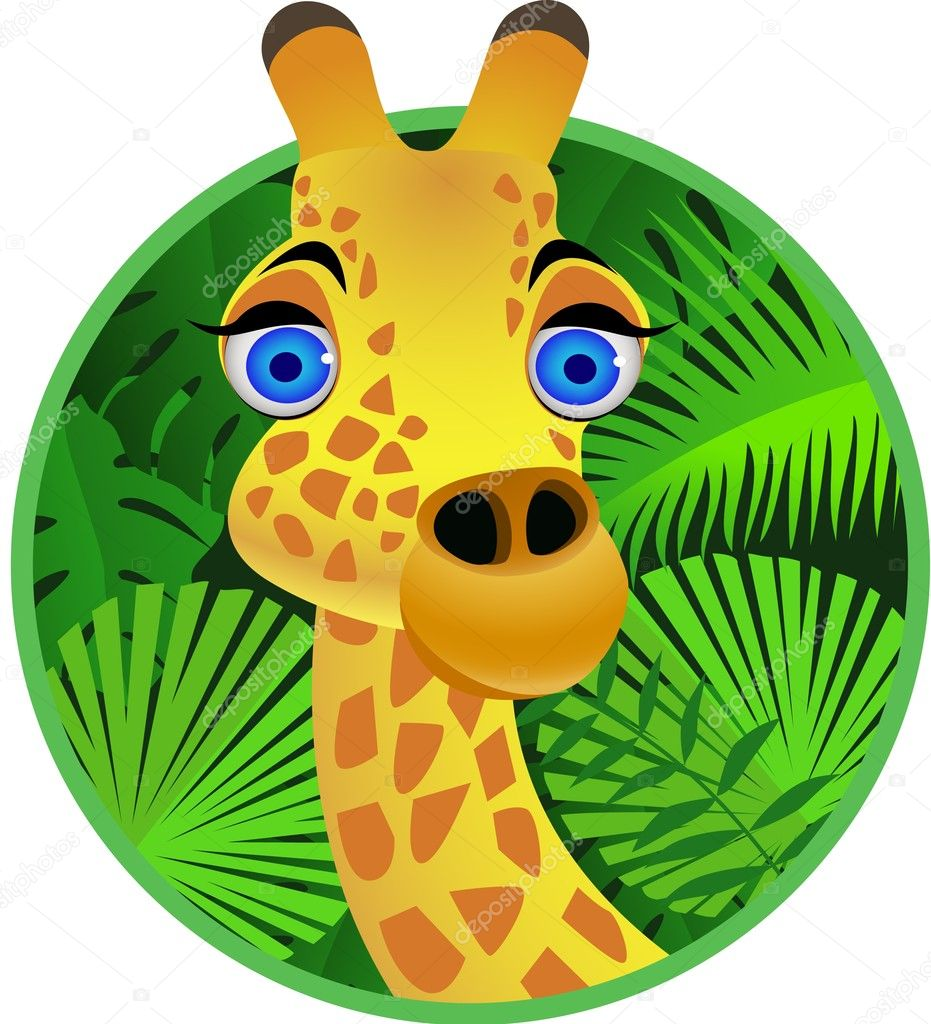 Giraffa cartone animato — vettoriali stock dagadu