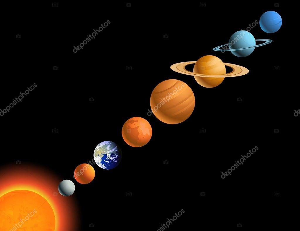 Solsystemet Stock Vektor 169 Dagadu 6082575