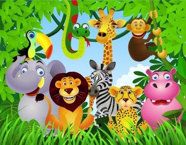 Wild animal in the jungle stock vector