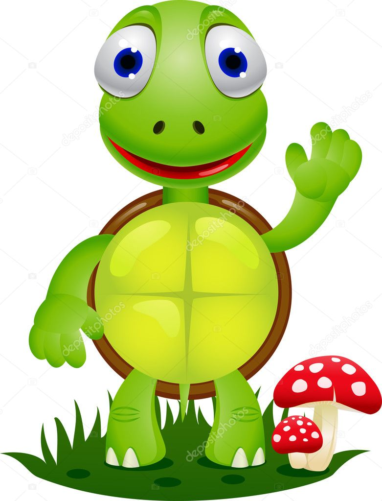 Drôle de dessin animé tortue — Image vectorielle dagadu © #6127357