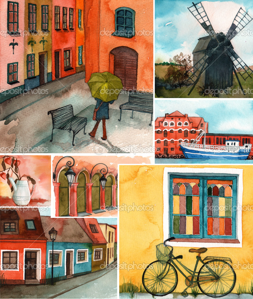 Swedish buildings and streets