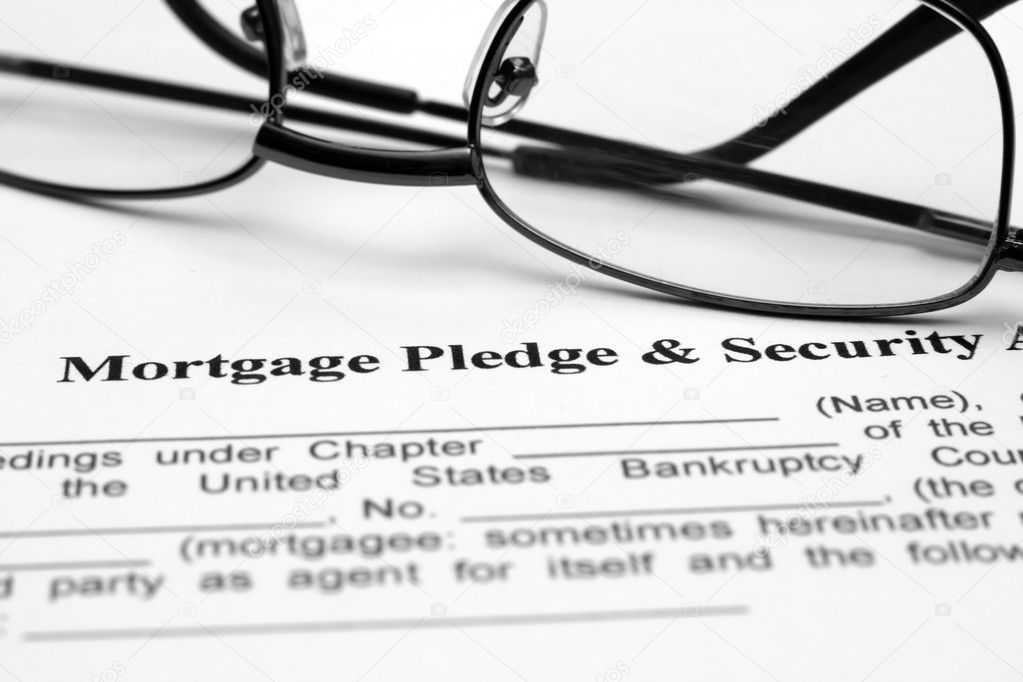Mortgage Pledge And Security Agreement Stock Photo Alexskopje