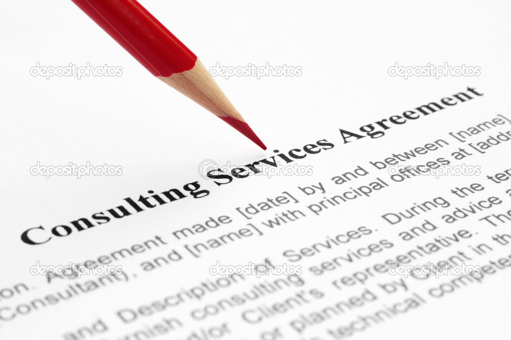 Consulting Service Agreement — Stock Photo © Alexskopje #6245806