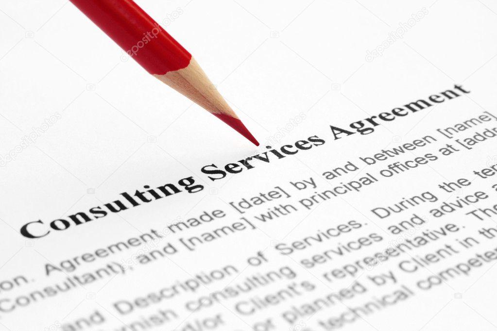 Consulting Service Agreement  Stock Photo  Alexskopje