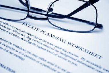 Estate planning worksheet