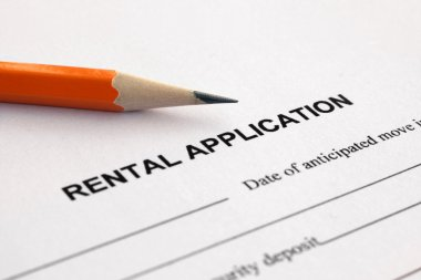 Rental application with pencil