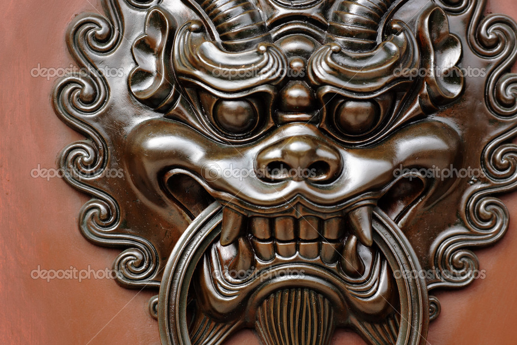 Lion door lock u2014 Stock Photo & Lion door lock u2014 Stock Photo © leungchopan #5398590