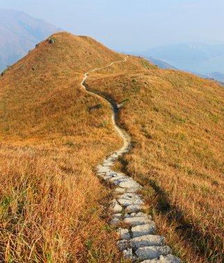 Mountain path stock vector