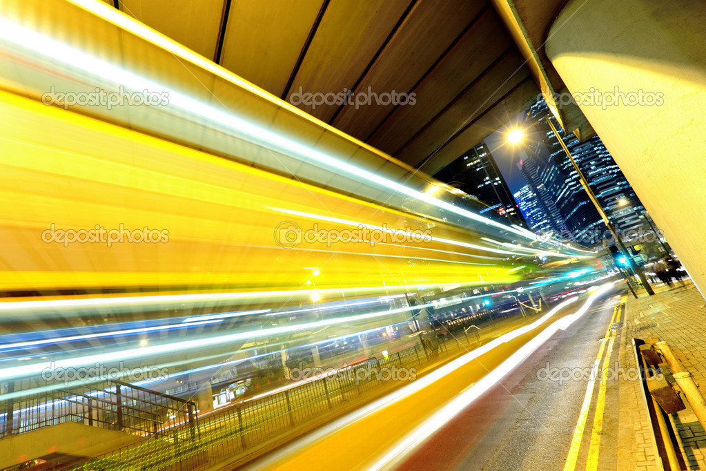 Фотообои Night traffic in city