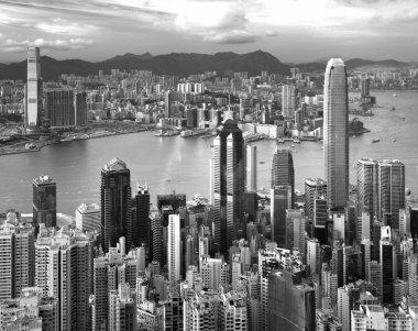 Hong Kong , black and white