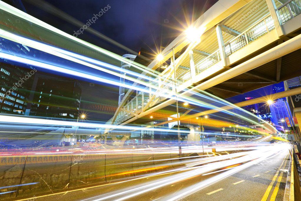 Фотообои Traffic in city at night