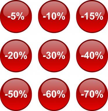 Discount icons.